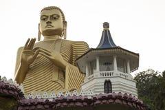 Tempiale dorato, Dambulla, Sri Lanka Immagine Stock
