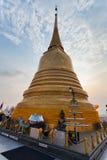 Tempiale dorato del supporto (Wat Sakate) Fotografie Stock