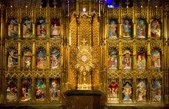 Tempiale dorato dell'altare dell'espiazione Guadalajara Fotografia Stock Libera da Diritti