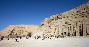 Tempiale e abu di Nefertari semplici fotografie stock libere da diritti