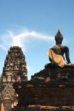 Tempiale e Buddha di Sukhothai Fotografie Stock Libere da Diritti