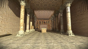 Tempiale egiziano antico fotografie stock libere da diritti