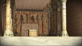 Tempiale egiziano antico fotografia stock