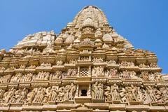 Tempiale erotico in Khajuraho Madhya Pradesh, India Fotografie Stock Libere da Diritti