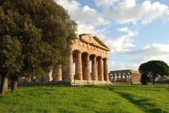 Tempiale greco in Paestum Fotografia Stock Libera da Diritti