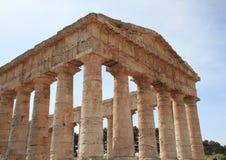 Tempiale greco a Segesta Sicilia Italia Fotografia Stock