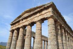 Tempiale greco Segesta Sicilia Italia Immagini Stock Libere da Diritti