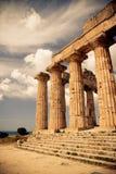 Tempiale greco in Selinunte Fotografia Stock Libera da Diritti