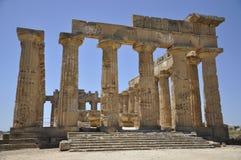 Tempiale greco in Sicilia. L'Italia. Fotografia Stock Libera da Diritti
