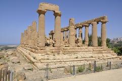 Tempiale greco in Sicilia. L'Italia. Fotografie Stock