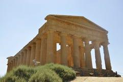 Tempiale greco in Sicilia. L'Italia. Fotografie Stock Libere da Diritti