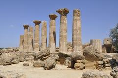 Tempiale greco in Sicilia. L'Italia. Immagini Stock Libere da Diritti