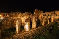 Tempiale greco Siracuse dell'Apollo immagine stock libera da diritti