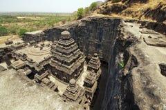 Tempiale indù antico della roccia Immagine Stock Libera da Diritti
