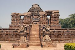 Tempiale indù antico a Konark Fotografia Stock Libera da Diritti