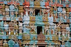 Tempiale indù antico in primo piano dell'India immagine stock libera da diritti