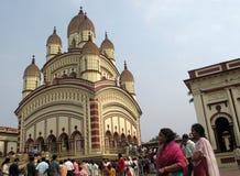Tempiale indù in Dakshineswar Fotografie Stock Libere da Diritti