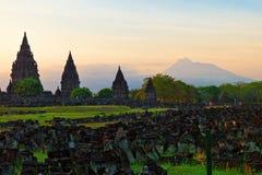Tempiale indù di Prambanan Immagine Stock Libera da Diritti
