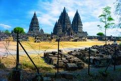Tempiale indù di Prambanan Fotografia Stock Libera da Diritti