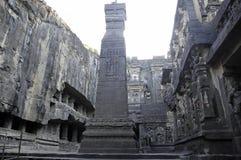 Tempiale India della caverna di Ellora Fotografie Stock Libere da Diritti
