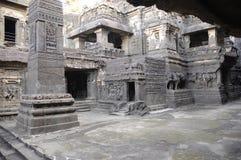 Tempiale India della caverna di Ellora Immagine Stock