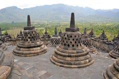 Tempiale Indonesia di Borobudur Immagine Stock Libera da Diritti