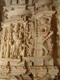 Tempiale Jain del particolare, Jaisalmer, India Immagine Stock