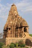 Tempiale in Khajuraho Immagine Stock