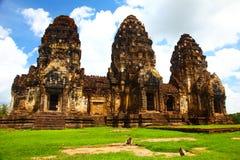 Tempiale in Lopburi, Tailandia di Wat Phra Prang Sam Yot Immagine Stock Libera da Diritti