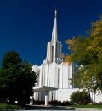 Tempiale mormonico del fiume Giordano Fotografia Stock Libera da Diritti