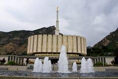 Tempiale mormonico di Provo Utah Fotografia Stock