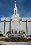 Tempiale mormonico ricco dell'Utah Fotografia Stock