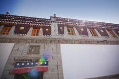 Tempiale nel Lamasery del catrame Immagini Stock Libere da Diritti