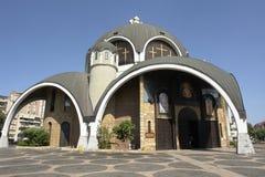 Tempiale ortodosso in uno stile modernista Immagini Stock