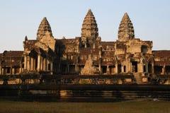 Tempiale principale del wat di angkor Fotografia Stock