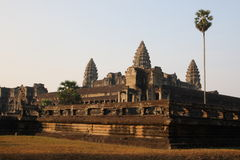 Tempiale principale del wat di angkor Fotografia Stock Libera da Diritti