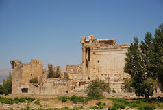 Tempiale romano di bacchus di rovine Fotografie Stock