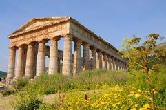 Tempiale in Segesta immagine stock libera da diritti