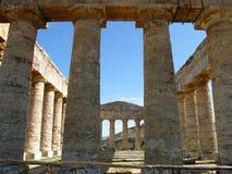 Tempiale a Segesta Immagini Stock Libere da Diritti