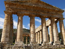 Tempiale a Segesta Fotografie Stock Libere da Diritti