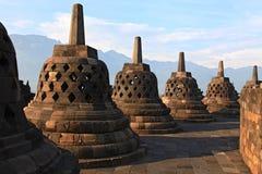 Tempiale Stupa di Borobudur Immagine Stock