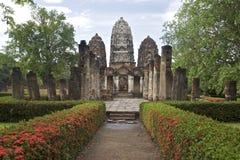 Tempiale in Sukhothai, Tailandia di Wat Sri Sawat fotografia stock