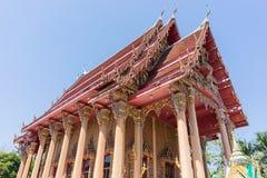 Tempiale tailandese con cielo blu Immagine Stock Libera da Diritti