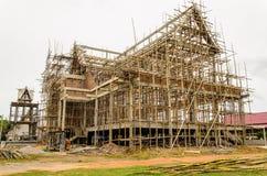 Tempiale tailandese in costruzione. Fotografie Stock Libere da Diritti