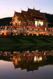 Tempiale tailandese di Lanna Fotografie Stock