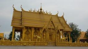 Tempiale tailandese dorato fotografia stock