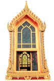 Tempiale tailandese tradizionale della finestra di stile Immagini Stock