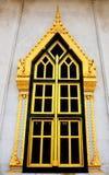 Tempiale tailandese tradizionale della finestra di stile Fotografia Stock