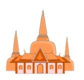 Tempiale in Tailandia royalty illustrazione gratis
