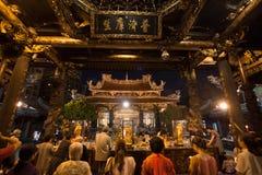 Tempiale Taipeh, Taiwan di Longshan Immagini Stock Libere da Diritti